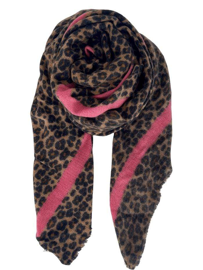 Black Colour Accessories One Size Black Colour Naomi Scarf Leopard 208133 izzi-of-baslow