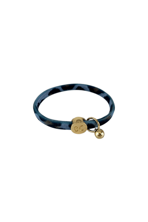 Black Colour Accessories One Size Black Colour Poppy Leo Blue Hair Elastic/Bracelet With Gold Ball Charm 6740 izzi-of-baslow
