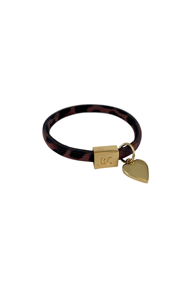 Black Colour Accessories One Size Black Colour Poppy Marsala Leo Hair Elastic/Bracelet With Gold Ball Charm 6740 izzi-of-baslow