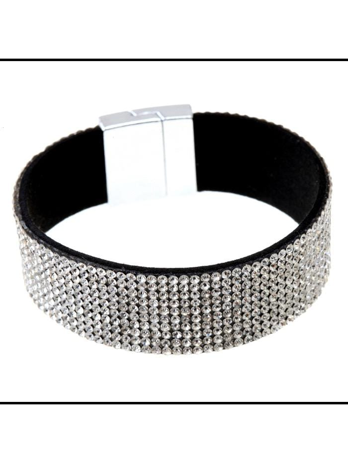 Black Colour Accessories One Size Diamanté Bracelet B21183 Small izzi-of-baslow