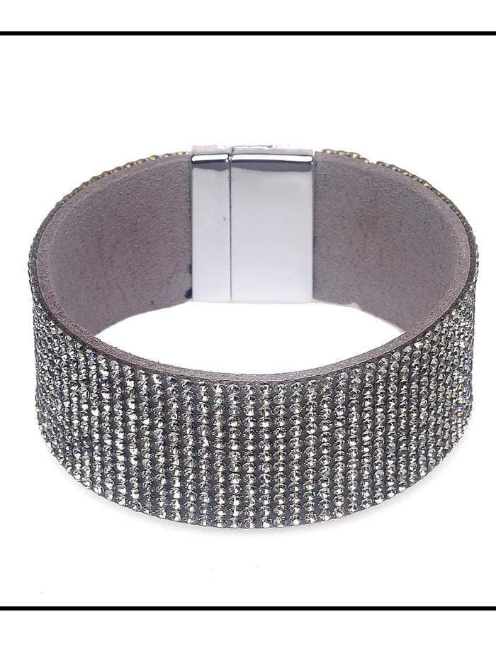 Black Colour Accessories One Size Diamanté Bracelet B21614 Medium izzi-of-baslow