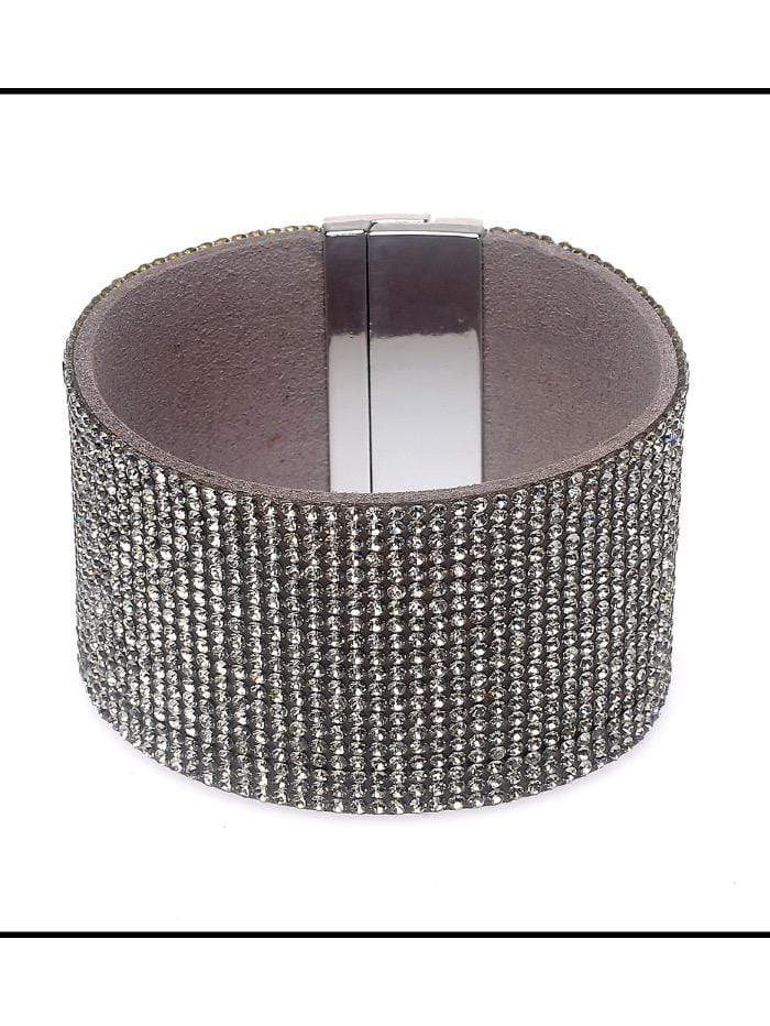 Black Colour Accessories One Size Diamanté Bracelet B21615 Large izzi-of-baslow
