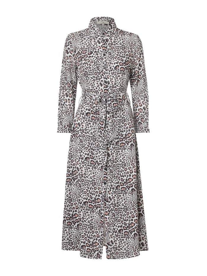 Charlotte Sparre Dresses Charlotte Sparre Animal Print My Shirt Dress Wildlife Cream 859C izzi-of-baslow