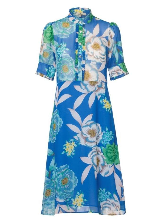 Charlotte Sparre Dresses Charlotte Sparre Diamond Fill Dress Cobalt Blue 2348 izzi-of-baslow