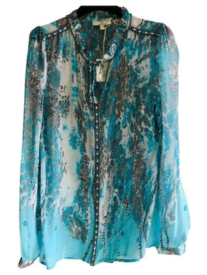 Charlotte Sparre Tops Charlotte Sparre Blue Always Blouse 2368 izzi-of-baslow