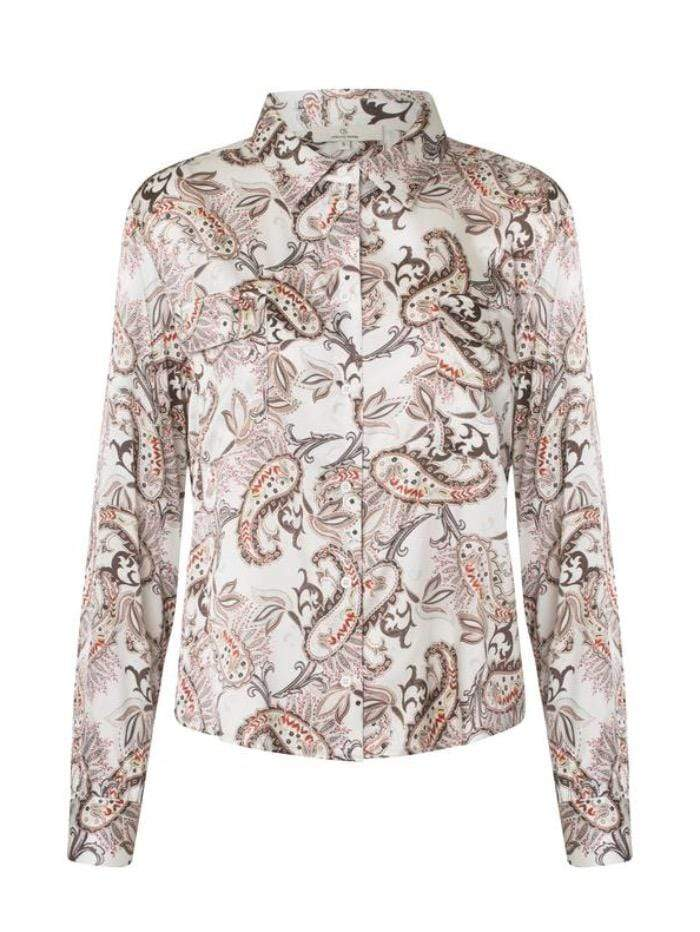 Charlotte Sparre Tops Charlotte Sparre Classic Silk Shirt In Amelia Cream 2428 izzi-of-baslow