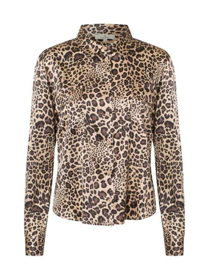 Charlotte Sparre Tops Charlotte Sparre Classic Silk Shirt In Winter Leo 2428 izzi-of-baslow