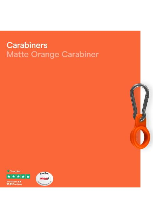 Chilly's Water Bottles Accessories One Size Chilly's Water Bottle Carabiner Matt Burnt Orange CBCARMABOR izzi-of-baslow