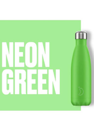 Chilly's Water Bottles Accessories One Size Chilly's Water Bottle Neon Green izzi-of-baslow