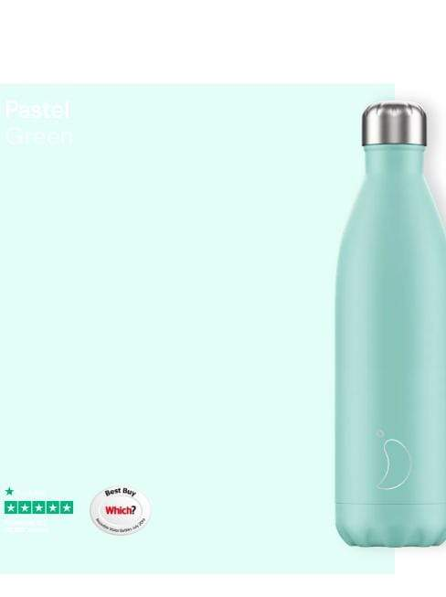 Chilly's Water Bottles Accessories One Size Chilly's Water Bottle Pastel Green 750ml B750PAGRN izzi-of-baslow
