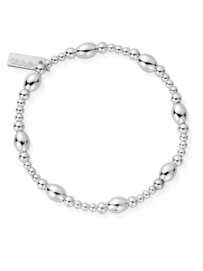 ChloBo Jewellery One Size Chlobo 58 Cute Oval Bracelet Sterling Silver SBCOR izzi-of-baslow