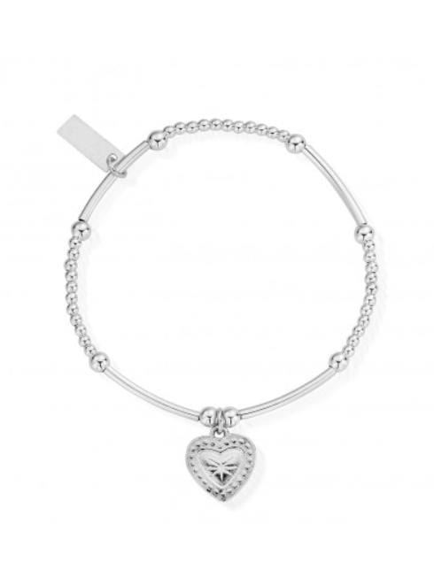 ChloBo Jewellery One Size Chlobo Cute Mini Star Heart Bracelet Silver SBCM004 izzi-of-baslow
