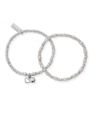 ChloBo Jewellery One Size Chlobo Forever Love Set Of Two Silver Bracelets SBSETFOREVER18 izzi-of-baslow
