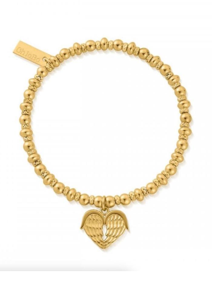 ChloBo Jewellery One Size ChloBo Gold Didi Sparkle Heavenly Heart Bracelet GBDS1024 izzi-of-baslow