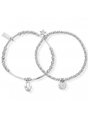 ChloBo Jewellery One Size ChloBo Protection Set Of Two Silver SBSET464 izzi-of-baslow
