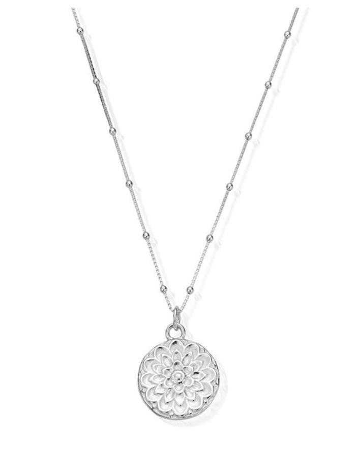 ChloBo Jewellery One Size ChloBo Silver Bobble Chain Moonflower Necklace SNBB721 izzi-of-baslow