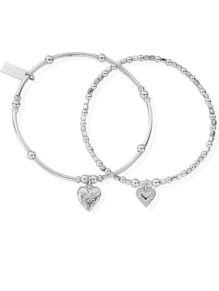 ChloBo Jewellery One Size ChloBo Silver Compassion Set Of Two Bracelets SBSET673398 izzi-of-baslow