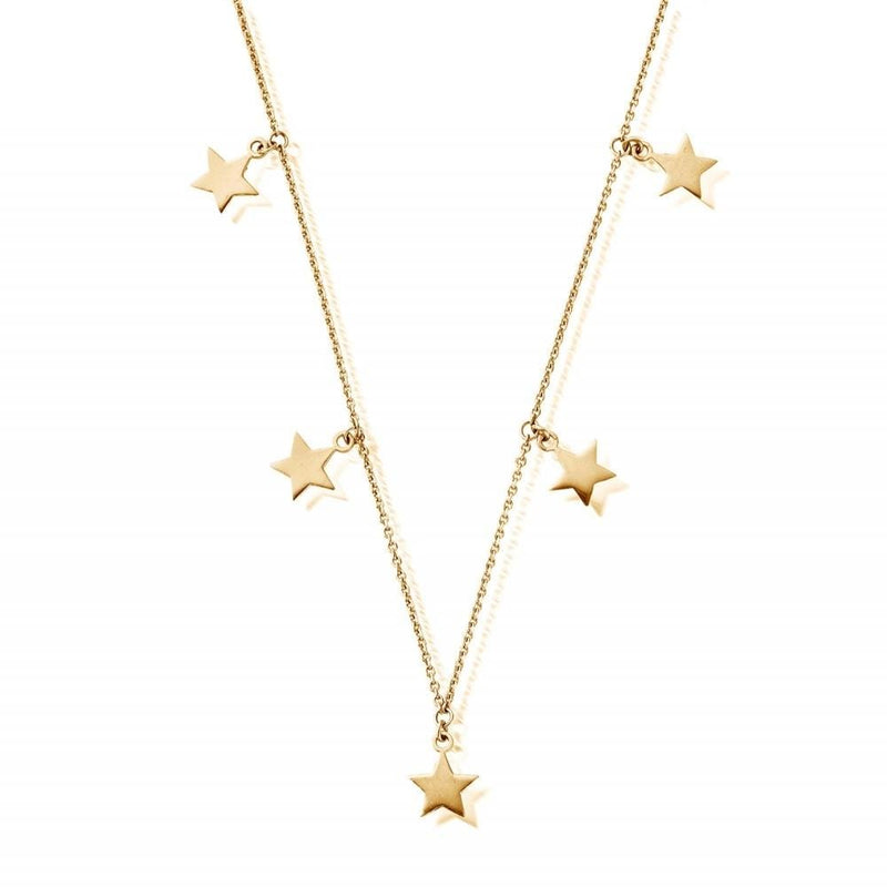 ChloBo Jewellery One Size ChloBo Stars Necklace Gold Plated GN5STARS izzi-of-baslow