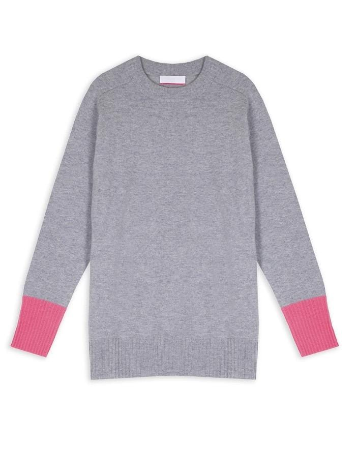 Cocoa Cashmere Knitwear Cocoa Cashmere Grey Sophie Jumper CC4007 izzi-of-baslow