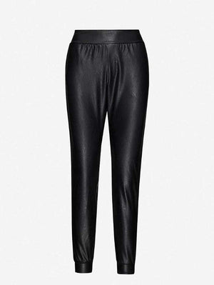 Commando Loungewear Commando Black Vegan Leather Jogger SLG45 izzi-of-baslow