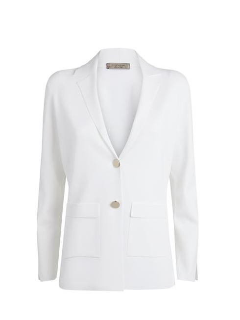 D.Exterior Coats and Jackets D.Exterior Knitted Jacket White 50226 izzi-of-baslow