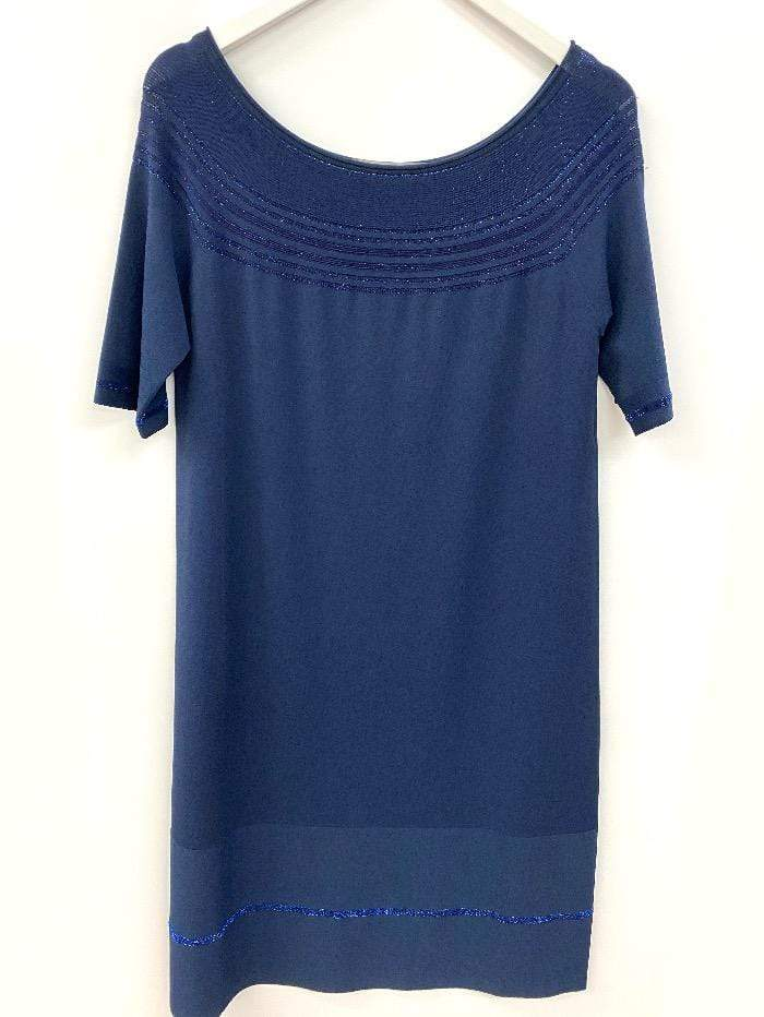 D.Exterior Dresses D.Exterior Fine Knitted Dress Blues izzi-of-baslow