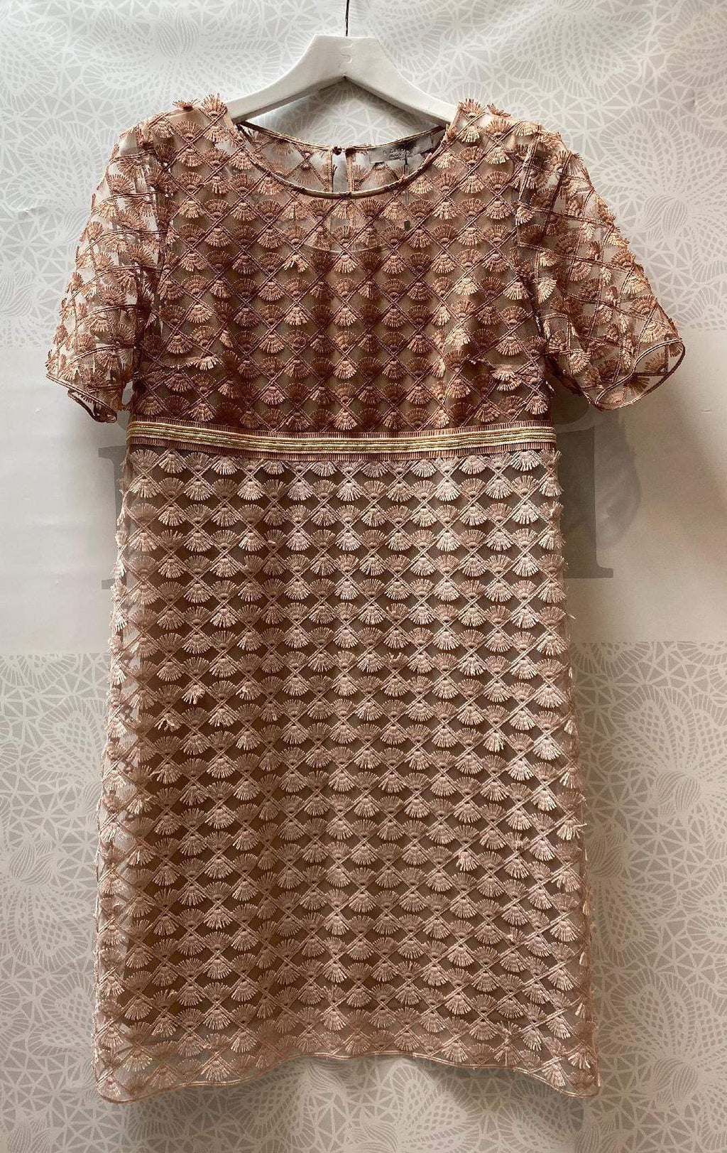 D.Exterior Knitwear D.Exterior Braided Dress Nude 50658 izzi-of-baslow
