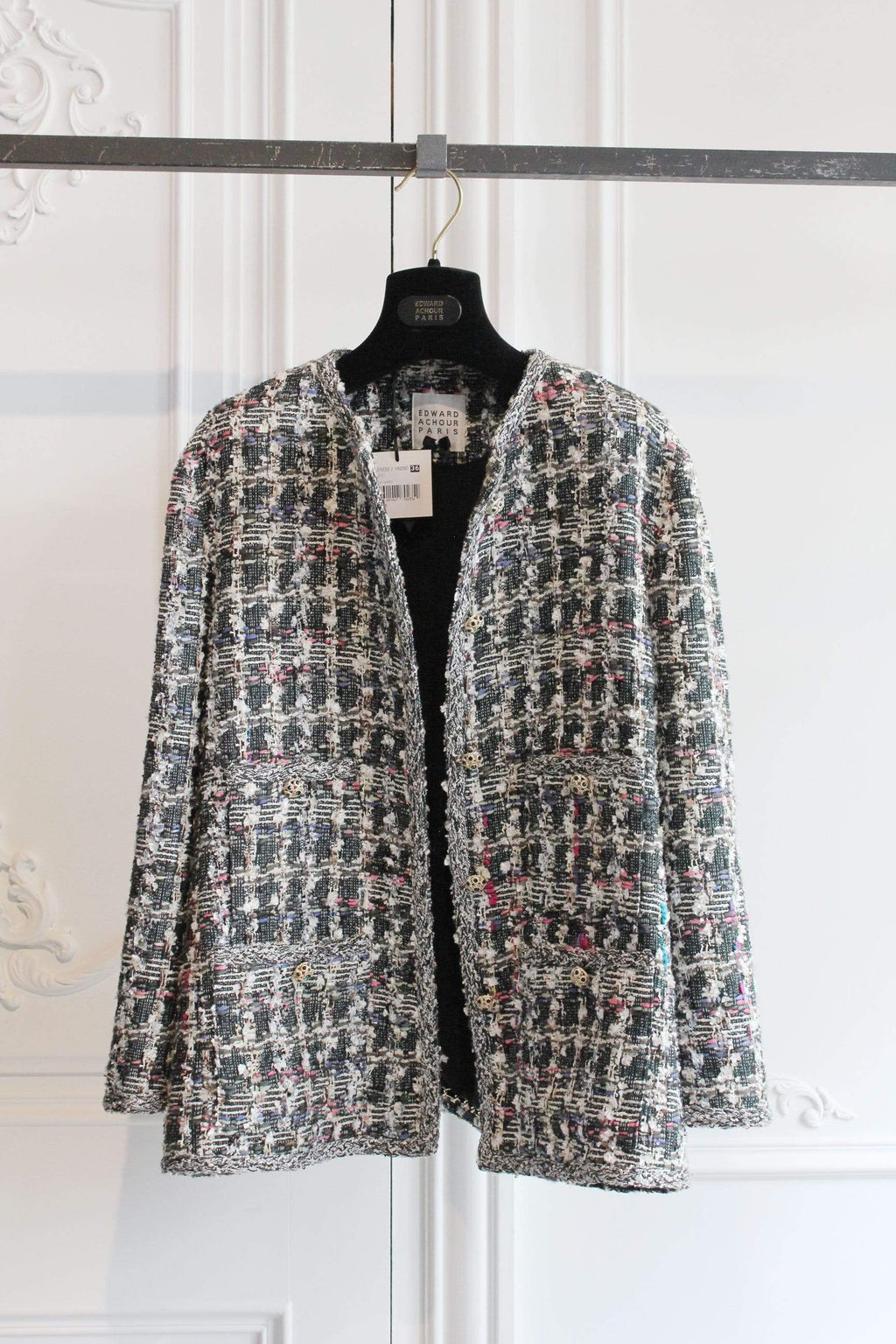 Edward Achour Paris Coats and Jackets Edward Achour Multi Tweed Jacket 431033/1623D izzi-of-baslow