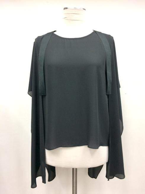 Edward Achour Paris Tops Edward Achour Paris Black Chiffon Blouse 407421 / 8515C izzi-of-baslow
