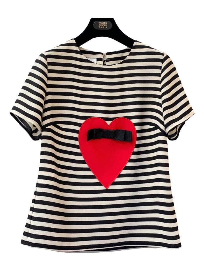 Edward Achour Paris Tops Edward Achour Top With Heart 427403 izzi-of-baslow