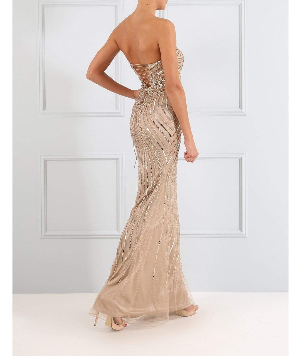 Forever Unique Dresses Forever Unique TF0927 Sweetheart Nude Evening Dress izzi-of-baslow