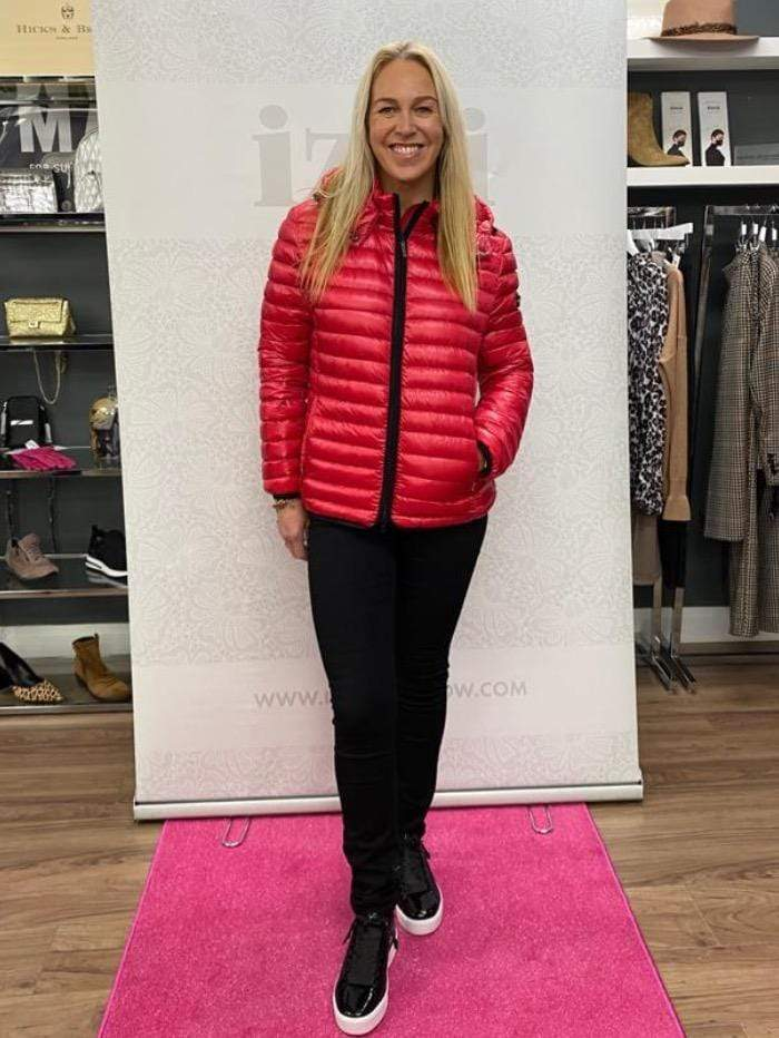Frieda & Freddies Coats and Jackets Frieda & Freddies Quilted Chilli Red Puffa Jacket 3702 Col 307 izzi-of-baslow
