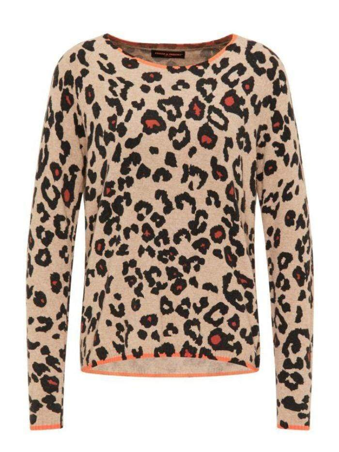 Frieda & Freddies Knitwear Frieda & Freddies Animal Print Jumper 3316 Col 850 izzi-of-baslow