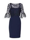 Gina Bacconi Dresses 12 Gina Bacconi Rya Dress And Overtop Spring Navy SRR3035 izzi-of-baslow