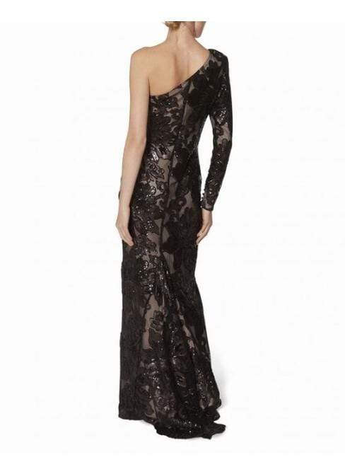 Gina Bacconi Dresses Gina Bacconi Black Contessa One Shoulder Dress SRR3184 izzi-of-baslow