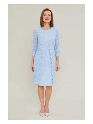 Gina Bacconi Dresses Gina Bacconi Mavis Crepe and Lace Dress SSS1060 izzi-of-baslow