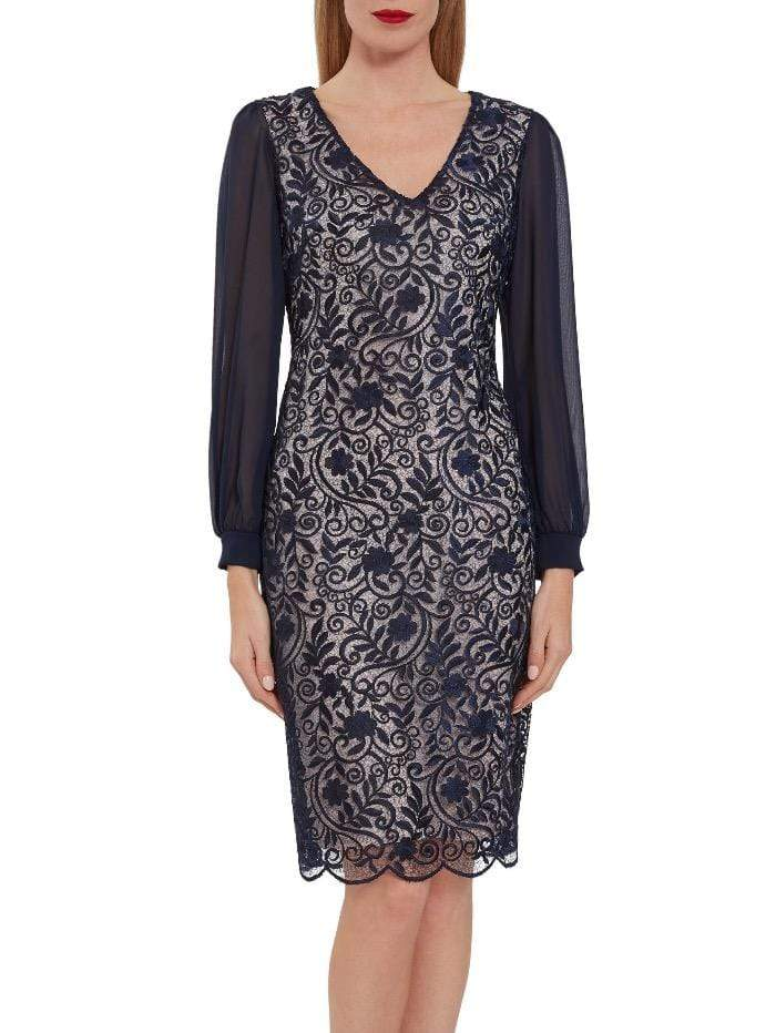 Gina Bacconi Dresses Gina Bacconi Navy Mozelle Dress SBZ5513 izzi-of-baslow
