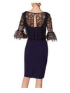 Gina Bacconi Dresses Gina Bacconi Rya Dress And Overtop Spring Navy SRR3035 izzi-of-baslow