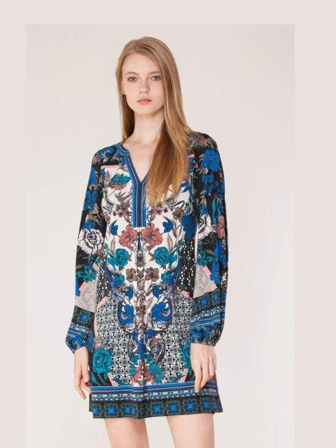 Hale Bob Dresses Hale Bob Bias Tunic Dress Blue 97HD6726 izzi-of-baslow