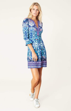 Hale Bob Dresses Hale Bob Lucy Dress In Navy Print 05WE6896 izzi-of-baslow
