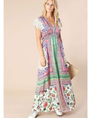 Hale Bob Dresses Hale Bob Printed Maxi Dress 11HZ6033 COR izzi-of-baslow
