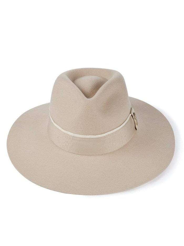 Hicks and Brown Accessories Hicks And Brown Oxley Fedora Pebble HBOXPE izzi-of-baslow