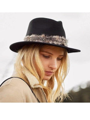 Hicks and Brown Accessories Hicks And Brown Suffolk Fedora Black HBSW2B izzi-of-baslow
