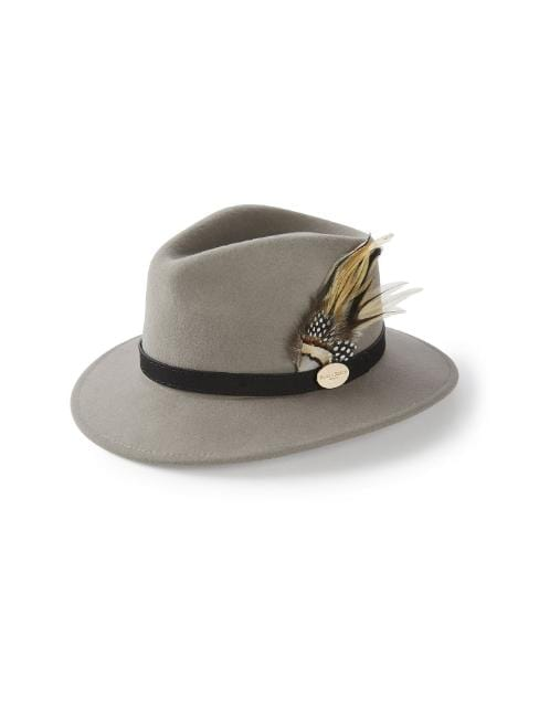 Hicks and Brown Accessories Hicks And Brown Suffolk Fedora Grey HBF2GR izzi-of-baslow
