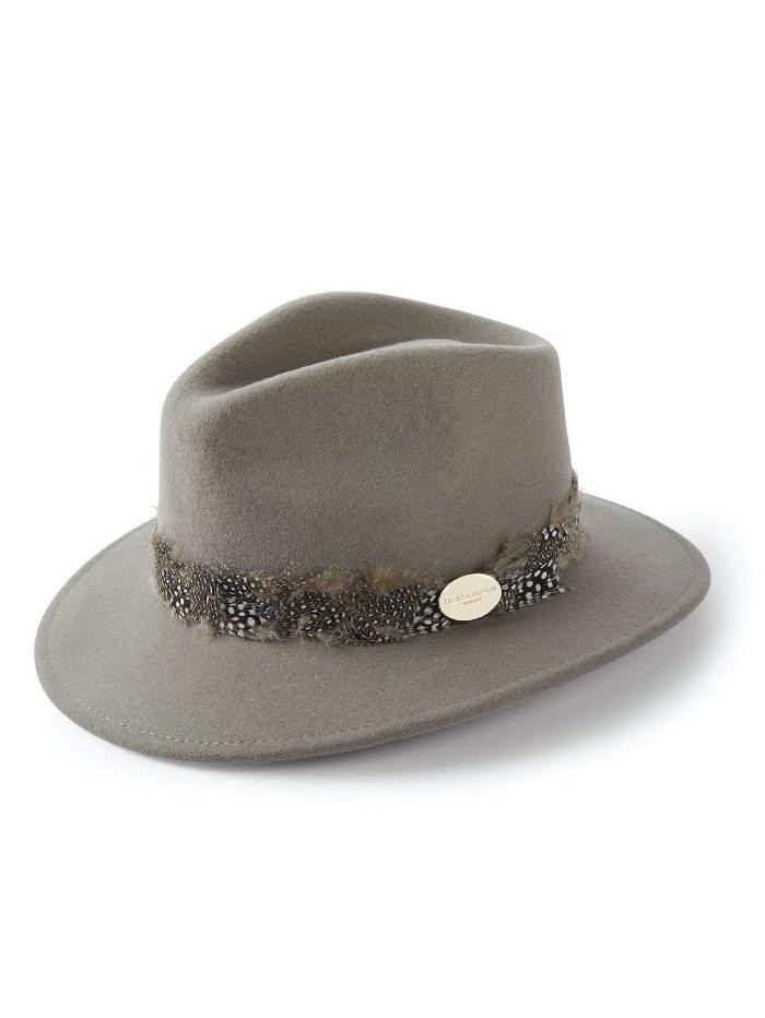 Hicks and Brown Accessories Hicks And Brown Suffolk Fedora Grey HBSW2GR izzi-of-baslow