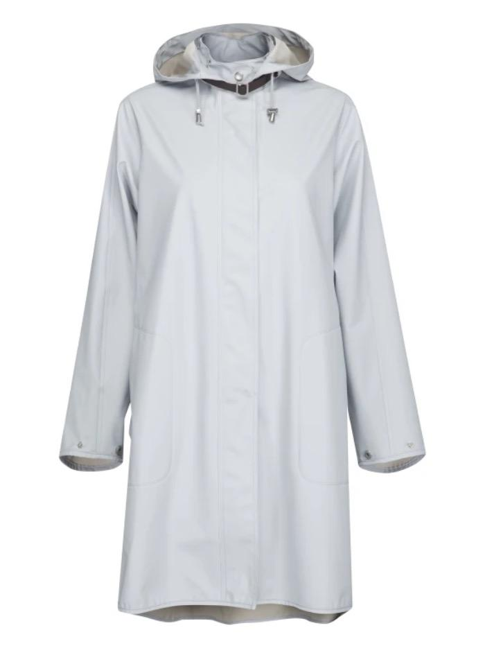 Ilse Jacobsen Coats and Jackets Ilse Jacobsen Rain 71 Raincoat 637 White Blue izzi-of-baslow