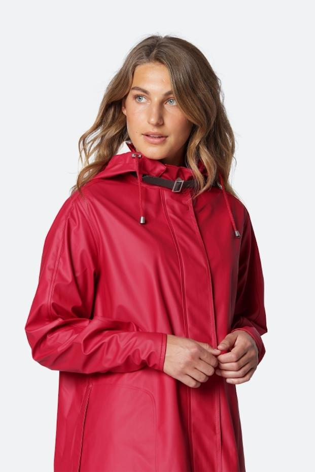 Ilse Jacobsen Coats and Jackets Ilse Jacobsen Rain71 Raincoat Red izzi-of-baslow