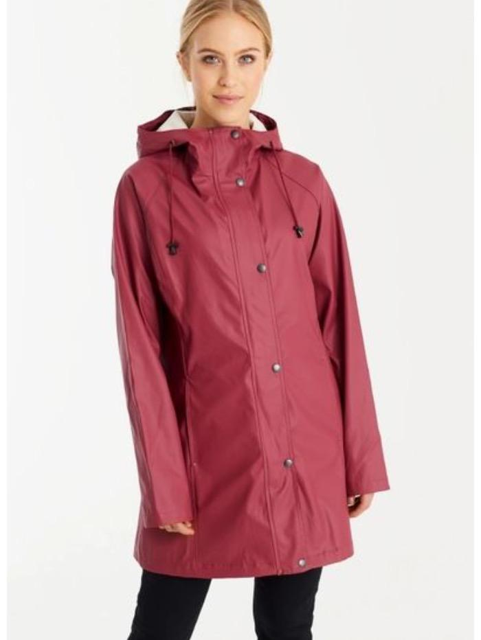 Ilse Jacobsen Coats and Jackets Ilse Jacobsen Rain87 Raincoat Maroon izzi-of-baslow