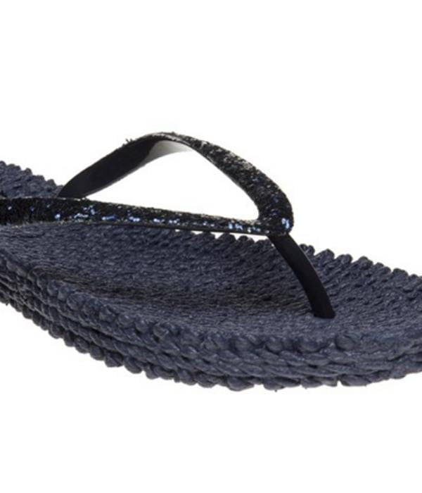 Ilse Jacobsen Shoes Ilse Jacobsen Flip Flops With Glitter Cheerful 01 Indigo izzi-of-baslow