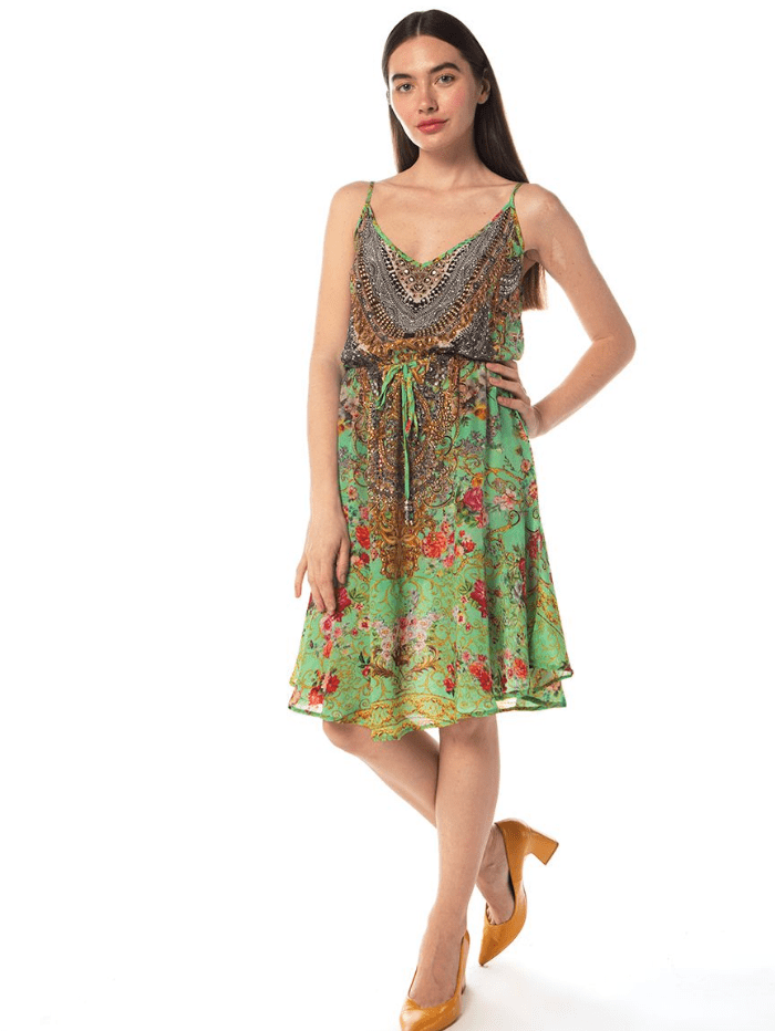 Inoa Dress Inoa Chartreuse Strappy Flirt Dress izzi-of-baslow